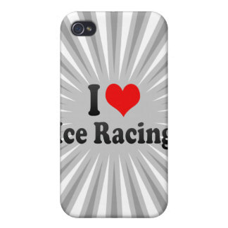 I love Ice Racing iPhone 4 Covers