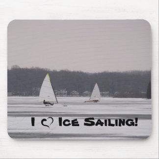 I love Ice Sailing! mousepad