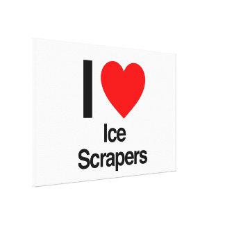 i love ice scrapers canvas prints