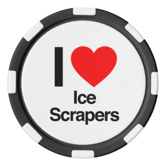 i love ice scrapers poker chips