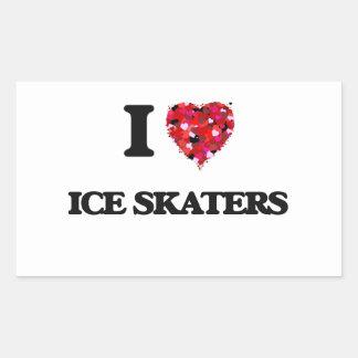 I Love Ice Skaters Rectangular Sticker