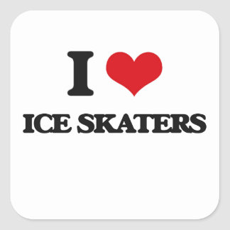 I love Ice Skaters Square Sticker