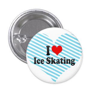 I love Ice Skating 3 Cm Round Badge