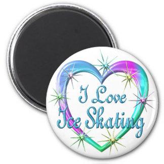 I Love Ice Skating 6 Cm Round Magnet