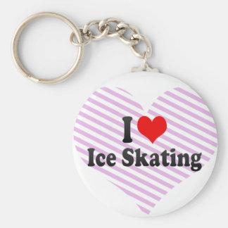 I love Ice Skating Basic Round Button Key Ring