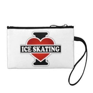 I Love Ice Skating Coin Wallets