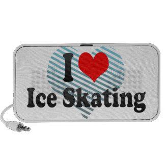 I love Ice Skating Laptop Speaker