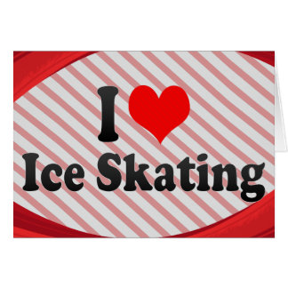 I love Ice Skating Note Card