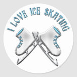 I Love Ice Skating Stickers