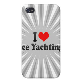 I love Ice Yachting Cover For iPhone 4