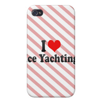I love Ice Yachting iPhone 4 Covers