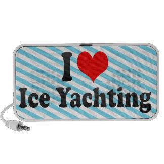 I love Ice Yachting Portable Speaker