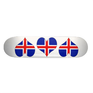 I Love Iceland Skate Deck