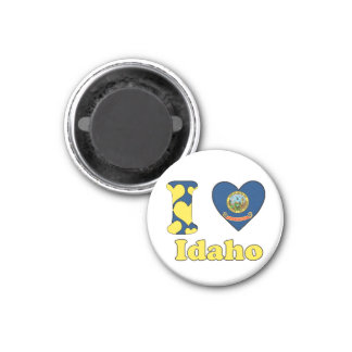 I love Idaho 3 Cm Round Magnet