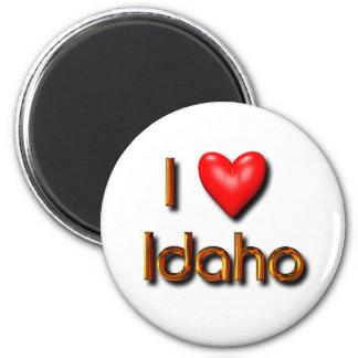I Love Idaho 6 Cm Round Magnet