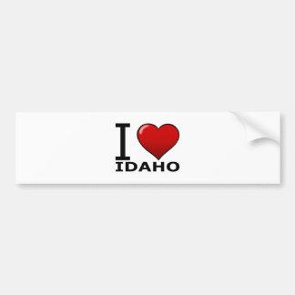 I LOVE IDAHO BUMPER STICKER
