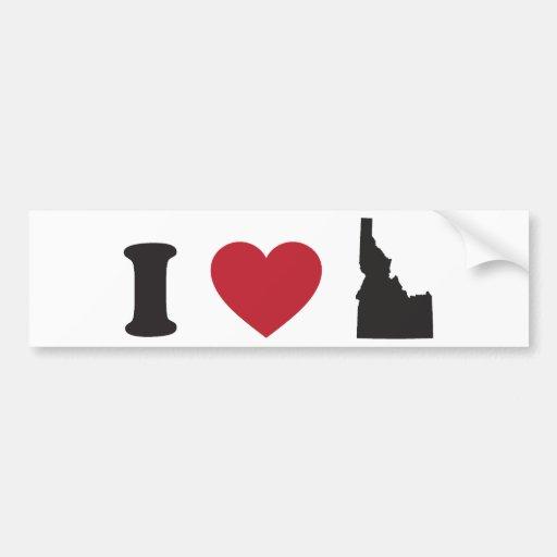 I Love Idaho Bumper Stickers