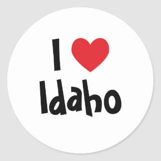 I Love Idaho Classic Round Sticker