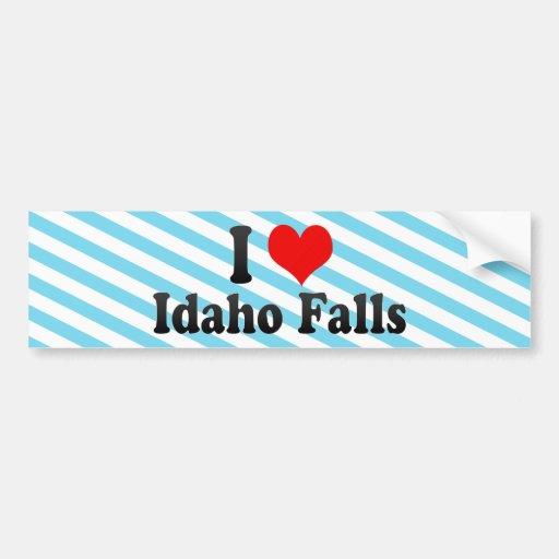 I Love Idaho Falls, United States Bumper Stickers