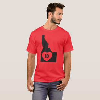 I Love Idaho State  Men's Basic Dark T-Shirt