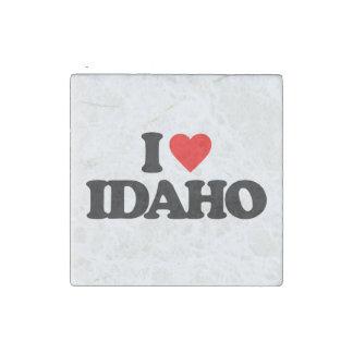 I LOVE IDAHO STONE MAGNET