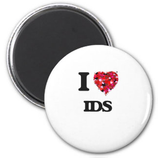 I Love Ids 6 Cm Round Magnet