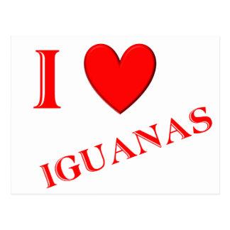 I Love Iguanas Postcard