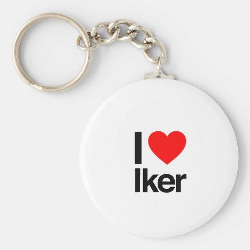 i love iker key chain