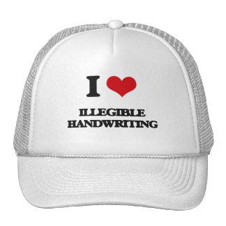 I love Illegible Handwriting Trucker Hat