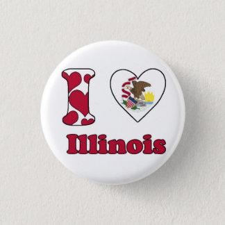 I love Illinois 3 Cm Round Badge