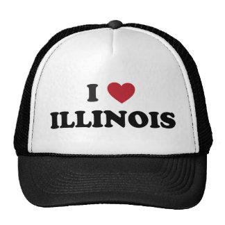 I Love Illinois Trucker Hats