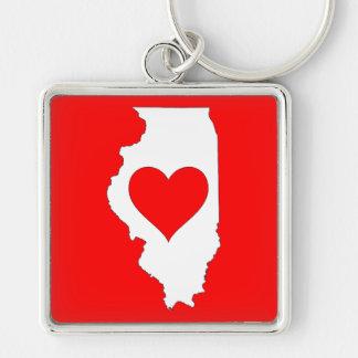 I Love Illinois Key Ring