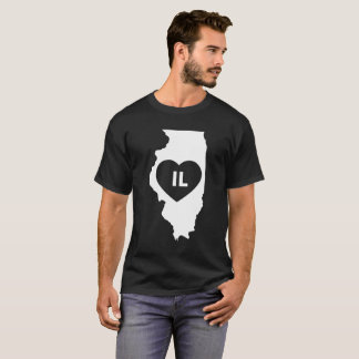I Love Illinois State Men's Basic Dark T-Shirt