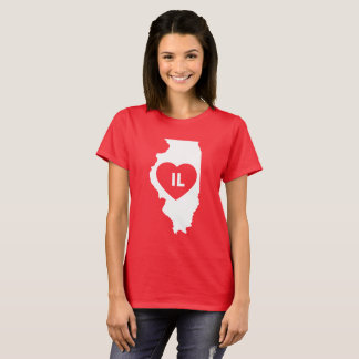 I Love Illinois State Women's T-Shirt