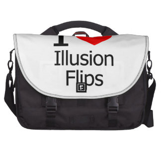 I Love Illusion Flips Laptop Commuter Bag