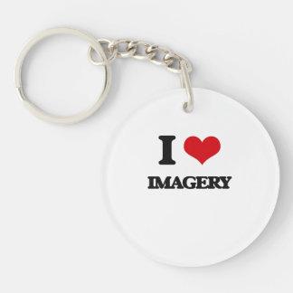 I Love Imagery Single-Sided Round Acrylic Key Ring
