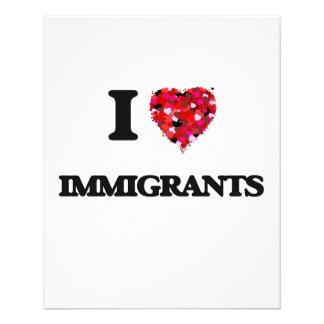 I Love Immigrants 11.5 Cm X 14 Cm Flyer