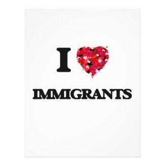 I Love Immigrants 21.5 Cm X 28 Cm Flyer