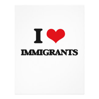 I Love Immigrants Flyer Design