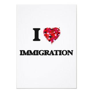 I Love Immigration 13 Cm X 18 Cm Invitation Card