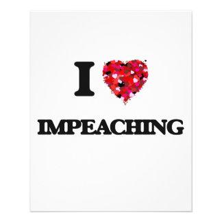 I Love Impeaching 11.5 Cm X 14 Cm Flyer