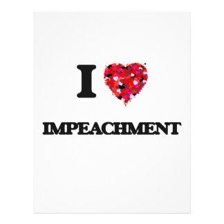 I Love Impeachment 21.5 Cm X 28 Cm Flyer