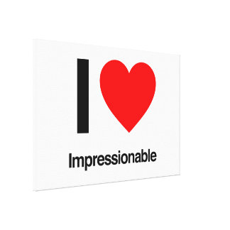 i love impressionable gallery wrapped canvas