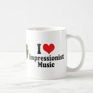 I Love Impressionist+Music Coffee Mugs