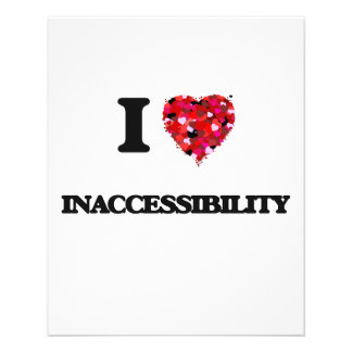 I Love Inaccessibility 11.5 Cm X 14 Cm Flyer