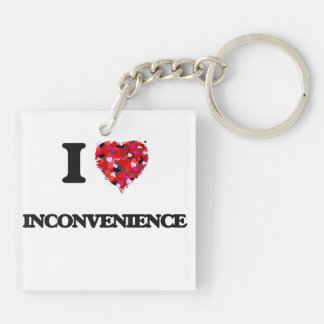 I Love Inconvenience Double-Sided Square Acrylic Key Ring
