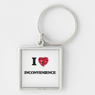 I Love Inconvenience Silver-Colored Square Key Ring