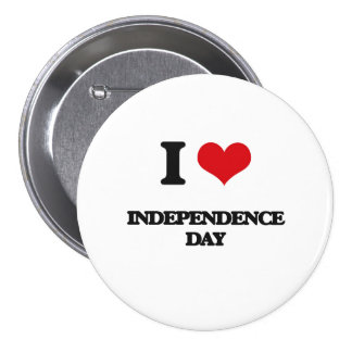 I Love Independence Day Button