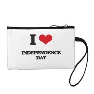 I Love Independence Day Change Purses