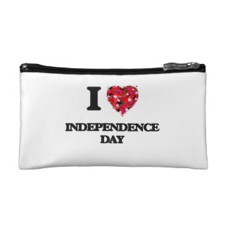 I Love Independence Day Cosmetic Bags